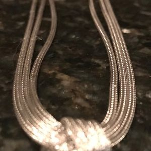 """Stunning sterling silver knot necklace, 16 """""""
